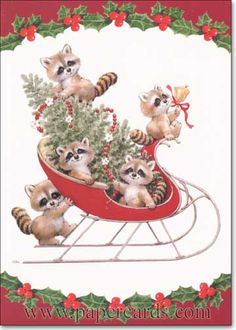 ruth morehead animal pictures | ... envelope) Paper Magic Ruth Morehead Christmas Card (Item# CD8240