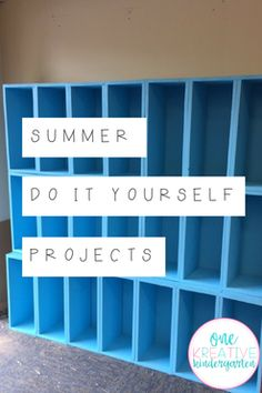 Summer DIY Projects for your Classroom