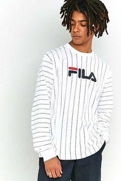 FILA Mario Pinstripe White Long-Sleeve T-shirt