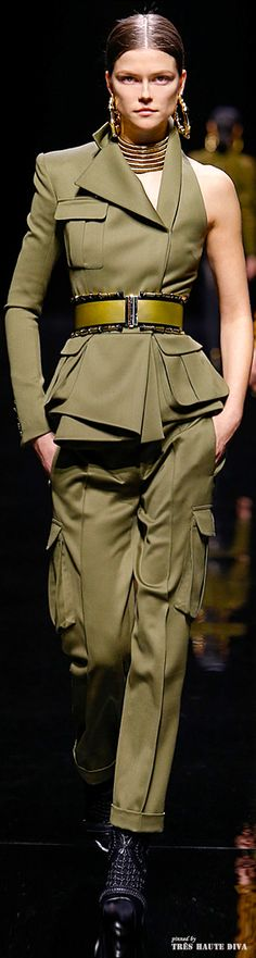 Balmain F/W 2014 | The House of Beccaria~ http://www.vogue.com/