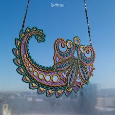 #Solena #Lace #necklace #FairyTale #Paisley #Ornament #indian #cucumber #fabulous #motif #fashionable #stylish #pendant