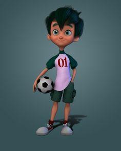 boy character, ahad alavi on ArtStation at https://www.artstation.com/artwork/Vkl2g