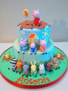 Peppa pig and your friends cake