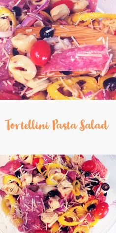 Tortellini Pasta Salad perfect for any cookout or potluck this summer!