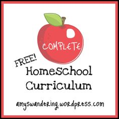 Lots of good resources for FREE homeschool curriculum. Yay for not having to piece things together.