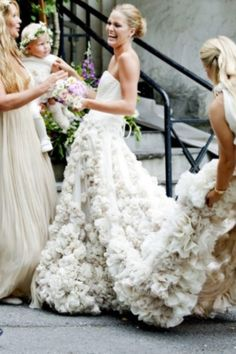 Beautiful bride Maria Skappel // Leila Hafzi amazing handmade wedding dress