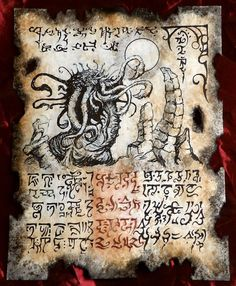 TEMPLE of the WORM Necronomicon page Cthulhu larp prop occult sorcery