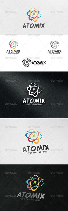 Atomix  - Logo Design Template Vector #logotype Download it here: http://graphicriver.net/item/atomix-logo-template-/6288029?s_rank=195?ref=nexion
