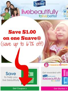 HOT #COUPON $1.00 off one Suave® (print two)  plus $175 prize in the #SFFS  sweepstakes ~ HURRY!!! http://freebies4mom.com/suavecoupon AD