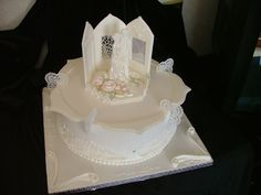 this is a cake made for a competition. All in royal icing