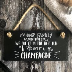 Handmade Lincolnshire slate hanging sign Winter is Coming