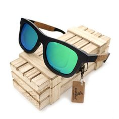 Cheap oculos de, Buy Quality uv protection directly from China sunglasses women men Suppliers: BOBO BIRD Oculos De Sol Feminino Black Bamboo& Wood Frame Green Polarized Lens Sunglasses Women Men glasses UV Protection Wooden Sunglasses, Mirrored Sunglasses, Sunglasses Women, Polarized Sunglasses, Handmade Wooden Toys, Wooden Gift Boxes, Mens Glasses, Vintage Men, Sport