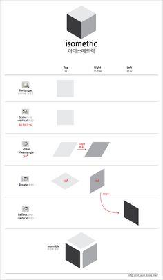 isometric tutorial-adobe illustrator by Tae-yun on DeviantArt Isometric Map, Isometric Drawing, Isometric Design, Graphic Design Trends, Graphic Design Tutorials, Design Design, Design Elements, Graphic Design Illustration, Digital Illustration