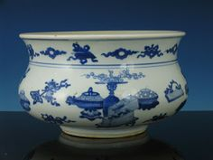 Kangxi blue and white porcelain, from plcombs, Gloucester, MA, http://www.bidamount.com/