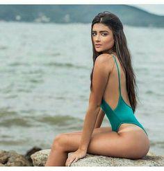 DU BRAZIL body side boob verde agua Perfect 10, Beachwear, Bikinis, Swimwear, Boobs, One Piece, Fashion, Swimsuits, Moda