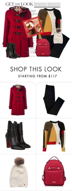 """Get the Look"" by conch-lady ❤ liked on Polyvore featuring Burberry, J Brand, Christian Louboutin, Étoile Isabel Marant, Woolrich and WithChic"