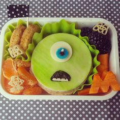 We scare, because we care! #bento #obento #charaben #monstersinc #lunchbox #cutefood by www.stefanienewcomb.com