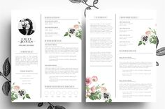 Creative CV Cover Letter/PSD Word by Emily's ART Boutique on @creativemarket