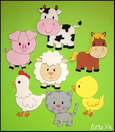 Farm Barnyard animal cutouts Birthday Party by supercutecutouts Party Animals, Farm Animal Party, Farm Animal Crafts, Farm Animal Birthday, Farm Birthday, Farm Party, Cute Animals, 2 Baby, Baby Kind