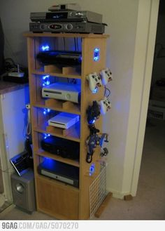 """gaming station, a little overkill but still pretty cool""   Over kill......? I think if anything it's a little under kill"