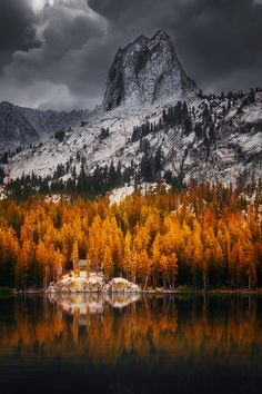 ~~cabin in the woods | autumn, Mammoth Lakes, California | by Wolfgang Moritzer~~