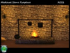 The Sims 4 This Creation belongs to a Set - Click here to show the whole Set Fireplace with cooking set http://www.thesimsresource.com/downloads/details/category/sims4-objects-buildmode-fireplaces/title/xcc--med--fireplace/id/1314797/