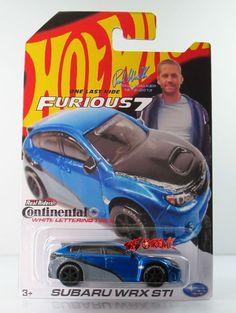 Hot Wheels 2015 CUSTOM FURIOUS 7 PAUL WALKER SUBARU WRX STI BLUE,ContinentalTIRE #HotWheels #Subaru