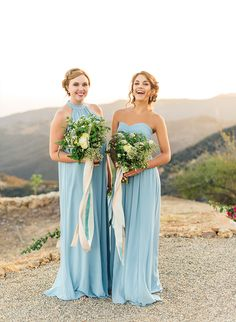 Love the silhouette and color of the bridesmaid dress on the right!