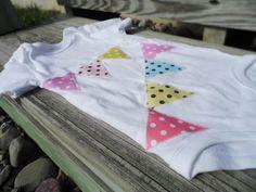9 month onesie  bunting onesie  flag onesie  by littlebucksanddoes, $13.00