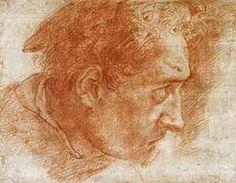 Polidoro da Caravaggio (c.1499-c.1543). The head of St Thomas (?) c.1527.  The Royal Collection, UK.