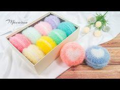하트 마카롱 수세미뜨기 코바늘 Heart Macaron Crochet Scrubber - YouTube Crochet Classes, Crochet Projects, Scrubby Yarn, Baby Socks, Crochet For Beginners, Knitting Socks, Crochet Stitches, Diy And Crafts, Knitting Patterns