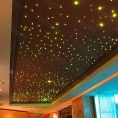 Star Ceiling Light Kit Star Lights On Ceiling, Funky Lighting, Lighting Ideas, Home Lighting Design, Fiber Optic, Kit Homes, Room Lights, Awesome Things