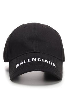 Balenciaga 'everyday' Logo Embroidered Visor Baseball Cap In 1000 Black Plain Baseball Caps, Baseball Hats, Vampire Diaries Outfits, Nike Gear, Neon Outfits, Balenciaga Mens, Hipster Girls, Mens Caps, Black Tattoos