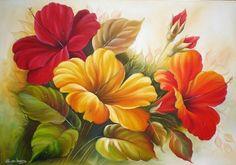 pintura de flores caseras                                                       …
