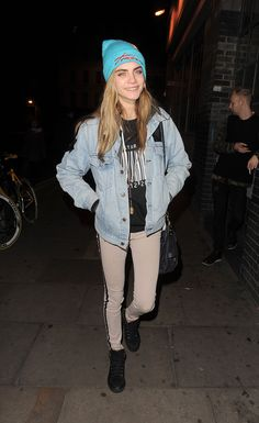 Cara Delevingne in Double Denim   Levis and Rag & Bone