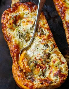 Serve this roasted stuffed butternut squash for a crowd or enjoy a larger portion for yourself, it's sure to satisfy!