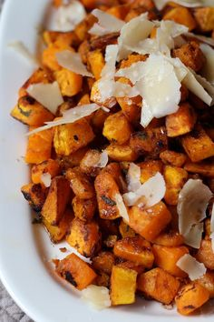 Beneath the sweet banality of butternut, there is its alter ego: a deep earthiness that can only be coaxed out by pushing the squash around a little. No boiling, or braising, or baking will find it. A wide pan and searing dry heat, though, swaps the facets of butternut's personality from sugary-soft to full-bodied and a little bit savory — the perfect accompaniment to a crisp-skinned roasted chicken.