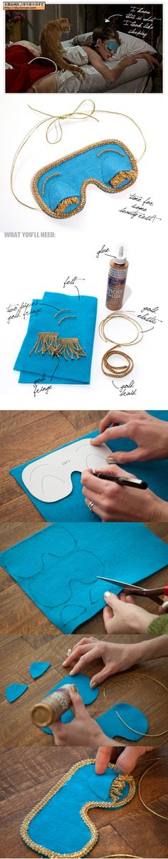 OMGOMGOMGOMGOMGOMGOMGGGGG HZHZKFGKZJFGH SOOOOO MAKING THIS! Breakfast At Tiffany's DIY Sleep Eye Mask.