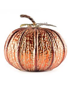 Take a look at this Large Copper Pumpkin today!