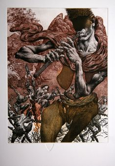 by Julian Jordanov Etching Prints, Dark Art Drawings, Demon Art, Scary Art, Figure Sketching, A Level Art, Creative Artwork, Fantastic Art, Erotic Art