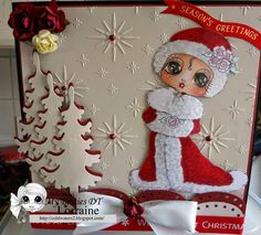 Besties Challenge : Our New challenge begins today, Challenge Embossing (Wet or Dry) Christmas Cards To Make, Xmas Cards, Simple Christmas, Winter Christmas, Scrapbook Paper Crafts, Scrapbooking, Fun Challenges, Winter Cards, Digi Stamps