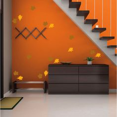 Autumn Leaves Decal Maple Leaf Decal Oak Leaf Decal Autumn Wall Decal... ($20) ❤ liked on Polyvore featuring home, home decor, wall art, brown, home & living, home décor, wall decals & murals, wall décor, fall wall art and vinyl wall stickers