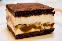 Chocolate Ice Cream Sandwich with Caramel and Pecan Ripple