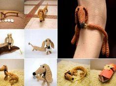 Crochet dog bracelets