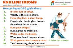 Podívejte se na tyto populární anglické idiomy. 💬 Znáte jejich význam? 💃🕺 #anglictina #idiomy It Takes Two, English Idioms, Glass House, Tango, Burns, Most Beautiful, Clouds, Memes, People