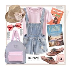 """Romwe."" by natalyapril1976 ❤ liked on Polyvore featuring Herb Lester, Versace, Fujifilm and Bernardo"