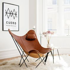 Get comfortable, ever-lasting pieces with Cuero Design furniture. Cheap Dining Room Chairs, Small Living Room Chairs, Toddler Table And Chairs, Brown Leather Armchair, Home Fountain, Leather Butterfly Chair, Rocking Chair Nursery, Oversized Chair And Ottoman, Camping Chairs