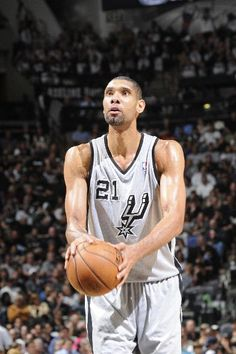 Tim Duncan #21 of the San Antonio Spurs shoots a free throw against the Golden State Warriors in Game One of the Western Conference Semifinals during the 2013 NBA Playoffs on May 6, 2013 at the AT Center in San Antonio, Texas.