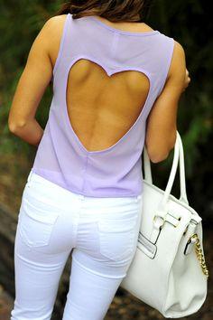 Sweetheart Crop Top: Lavender #shophopes