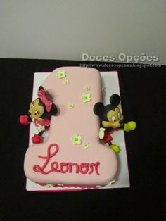 Doces Opções: O primeiro aniversário da Leonor com o Mickey e a ...